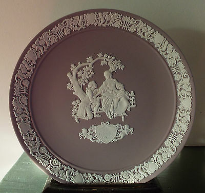 Vintage Wedgwood Lilac Jasper Ware Valentine Collector's Plate