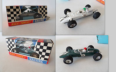 TWO SCALEXTRIC Europa VEE C5 TRIANG MECCANO BOXED WITH INSTRUCTIONS