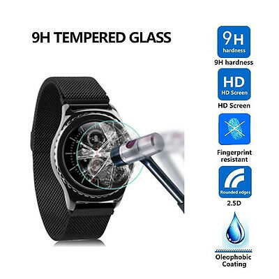 9H LCD Film Tempered Glass Screen Protector For Samsung Gear S3 Classic Frontier
