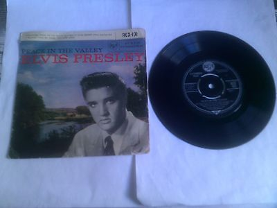 Elvis Presley Peace in the Valley EP Rare 1962 UK 1C/1C Matrix RCA RCX 101