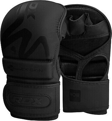 RDX Leather Grappling Training MMA Gloves Sparring UFC Punching Cage Fighting CA