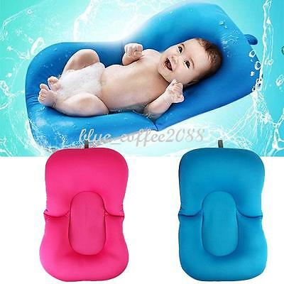 Useful Baby Tub Pad Pillow Bath Lounger Air Cushion Floating Soft Seat Newborn
