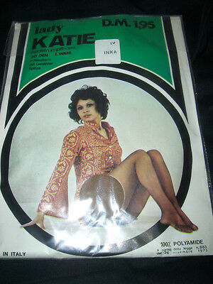 70er J. Lady Kate Vintage Feinstrumpfhose Gr. IV inka 20 den Collant Tights OVP