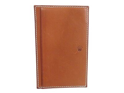 Couverture Porte Bloc Note Rolex En Cuir Marron Brown Leather Cover Block Note