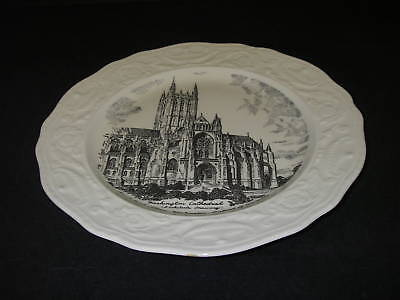 Souvenir PLATE Washington Cathedral DC embossed edge Steubenville Pottery.