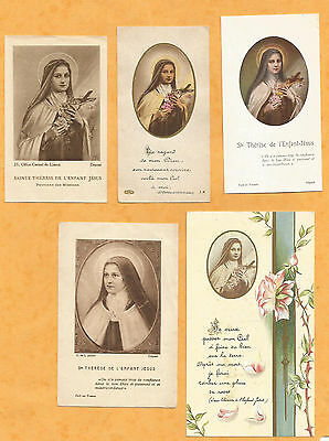 Lot 5  Images Pieuses Holy Card  Sainte Therese Tj3