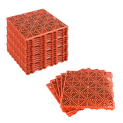 5 Packs (25 Boards) Interlocking Non Slip Garden Lawn Patio Path Tile Walkway