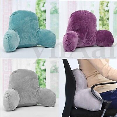 Lumbar Bed Rest Back Pillow Support Arm Stable Backrest Seat Cushion Lounger