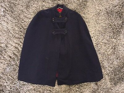 WWII Nurse  Cape Jacket Coat Wool Vintage RMH Navy Red NO Initials 40's Nice!