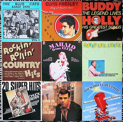 Top Sammlung 36 Rock ´n´ Roll / Rockabilly / Neobilly Lps