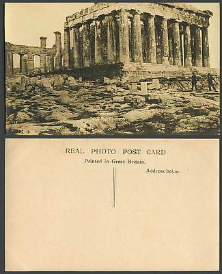 Greece Old Real Photo Postcard Athenes The Parthenon, Temple Ruins Athens Athene