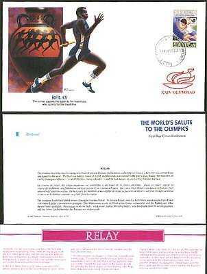 RELAY Running Samoa 1988 Olympics Sport First Day Cover