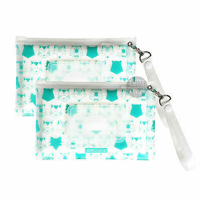 WIPOUCH™ Mint Animals Refillable Wet Wipes Pouch Set of 2 WIPOUCH30 Free Express