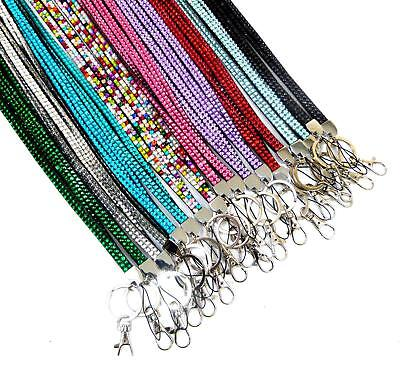 Quality Bling Lanyard Rhinestone Diamante Crystal Neck ID Card Mobile Holder LC