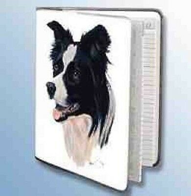 Retired BORDER COLLIE Softcover Address Book art by Robert May