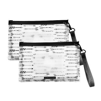 WIPOUCH™ Monochrome Arrows Refillable Wet Wipes Pouch Set of 2 WIPOUCH30 Express