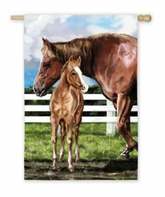 Horse Flag Precious MARE & FOAL Outdoor Garden Flag CLEARANCE SALE