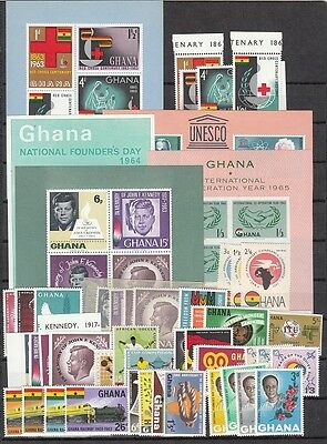 Ghana Scott 111 // 246 Mint NH sets and S/S (Catalog Value $40.00)