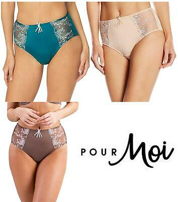 PM-7713 BNWT Dark Turquoise embroidered POUR MOI /'Imogen Rose/' Briefs Size 10