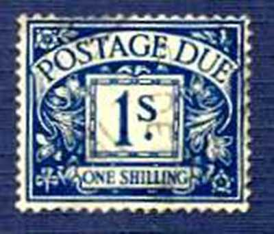 Great Britain SC#J32 1S Blue KG VI, Postage Due-USED