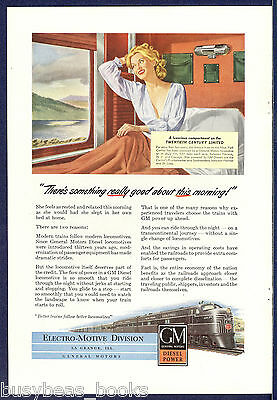 1947 Electro-Motive Division advertisement, NEW YORK CENTRAL RR 20th Century