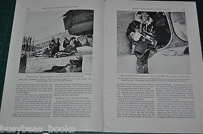 1932 magazine article MAPPING THE ANTARCTIC FROM THE AIR, Byrd Expedition