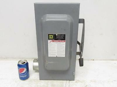 Square D No. D323N Fusible 100 Amp 240v Safety Switch Disconnect Box