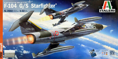 Lockheed F-104 G/S Starfighter Flugzeug Jet 1:32 Model Kit Bausatz Italeri 2502