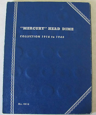 1916 - 1945 Nearly Complete Set Mercury Dimes - 76 Silver Coins - Missing 1916d