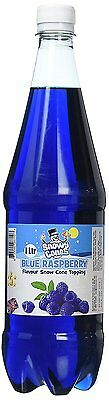 Snow cone syrup Blue Raspberry  Flavour Topping Sauce  1 Litre By SnowyCones™