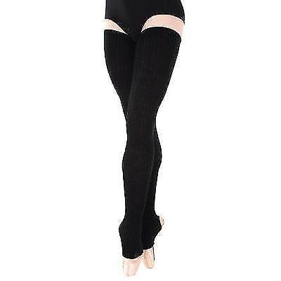 Body Wrappers Women's 48 Extra-Long Stirrup Legwarmers,Black,One Size New