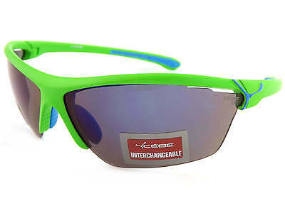Cebe CINETIK 12 Lens Sunglasses Green / Grey Blue Flash Mirror + Yellow + Clear