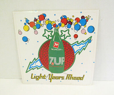 7 UP THE UNCOLA SODA 1970's LIGHT YEARS AHEAD ADVERTISING PROMO STICKER PREMIUM