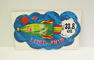 7 UP SODA 1970's LITER-SHIP SPACE ADVERTISING PROMO STICKER THE UN-COLA 7UP