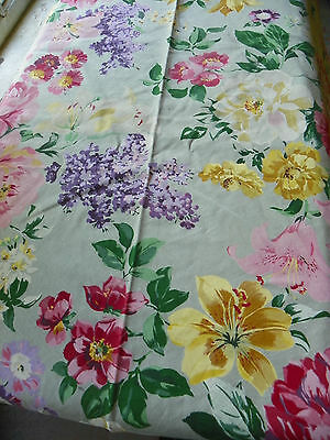 """Waterford-65"""" Round Tablecloth-Explosion Of Color!-100%cotton-Dry Cleaned"""