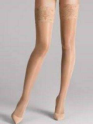 Wolford 4273 Cosmetic Satin Touch 20 Stay-Up Size: Large MSRP $47.00 NIP