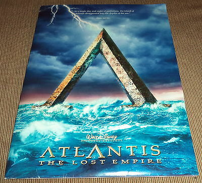 2001 Walt Disney Atlantis The Lost Empire  Movie Press Release Package/Kit