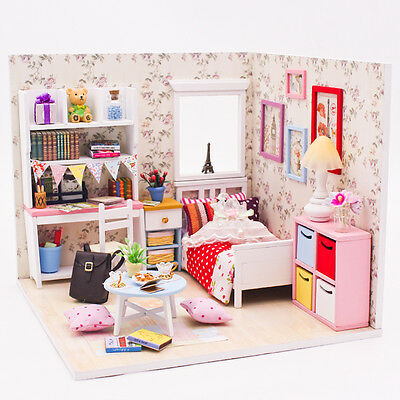 DIY Handcraft Miniature Project Wooden Dolls House My Little Angels Bedroom 2017