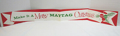 Make It A Merry Maytag Christmas Vintage Store Display Banner Advertising Sign