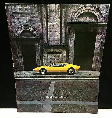 Original 1972 Ford De Tomaso Pantera Dealer Catalog Sales Brochure Sports Car