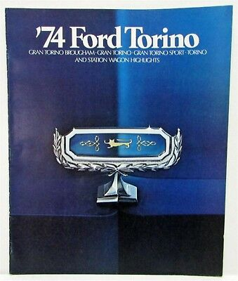 1974 Ford Torino Sales Brochure Revised Presenting Gran Torino Elite