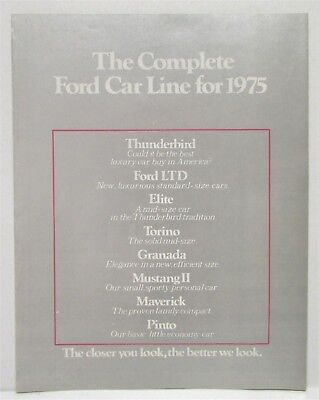 1975 The Complete Ford Car Line Sales Brochure