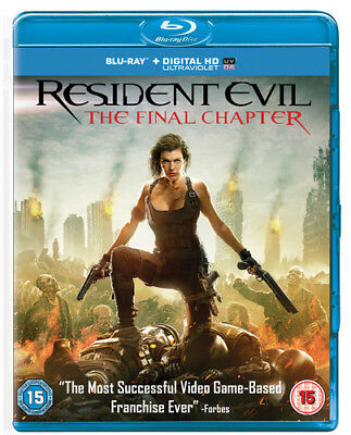 Resident Evil: The Final Chapter DVD (2017) Milla Jovovich ***NEW***