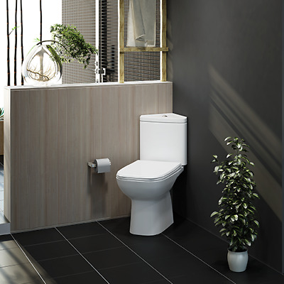 RAK Ceramics Origin 62 Modern White Corner Close Coupled Toilet Soft Close Seat