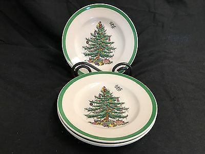 "Spode ""CHRISTMAS TREE"" #S3324L ~ Set of 4 ~ Bread Plates ~ 6 1/2"""