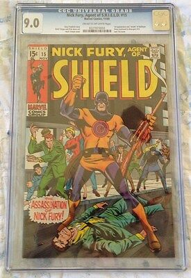 Nick Fury, Agent of S.H.I.E.L.D. #15--CGC 9.0--First appearance of Bullseye