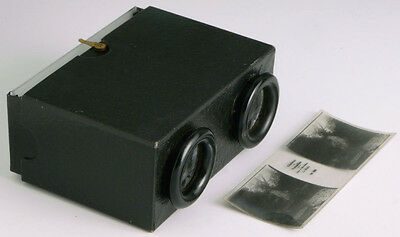 45x107mm stereo viewer + stereo positive ___________________ vintage stereoscope