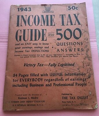 JB759 1943 Income Tax Guide Published By The Tax Digest