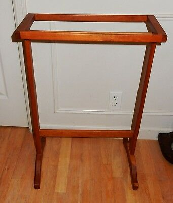Vintage Hand Crafted Solid Cherry Wood Towel / Blanket / Quilt Rack