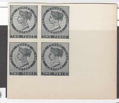 Prince Edward Island # 5 Block Of 4 Plate Proofs Cat Value $120